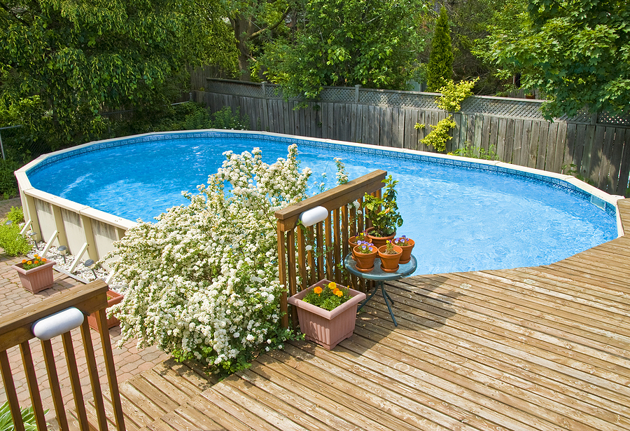 pool in the deck